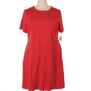 THE LIMITED SHORT SLEEVE SHIFT PLUS SIZE DRESS